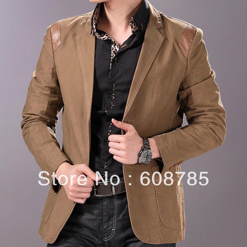 Khaki/Black/Brown 2013 Spring Casual Jacket Menu0026#39;s Fashion Slim Small Suit Coat Male Suits ...