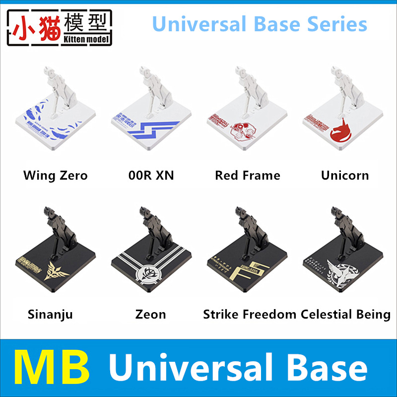 Kitten model MB style Universal Base for Bandai HIRM MG RG HG 1/100 1/144 Wing Zero Sinanju Unicorn Red Frame Zaku Gundam DX005(China)