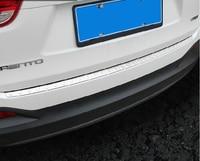 Auto rear bumper protector trim for KIA Sorento L ,1pc,stainless steel,auto accessories