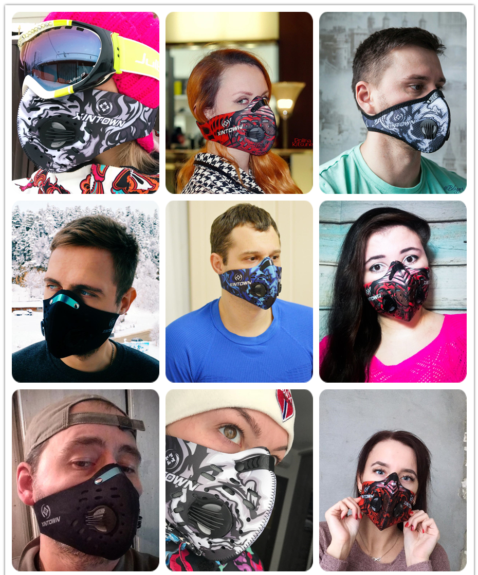 XINTOWN Men/Women Activated <b>Carbon Dust</b> proof <b>Cycling</b> Face ...
