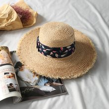 Bowknot Palha Chapéus de Sol para As Mulheres Da Praia do Verão Chapéu de  Sol Da Moda Femme Chapeau Panamá Aba Larga Floppy Aba . e167421e5e4