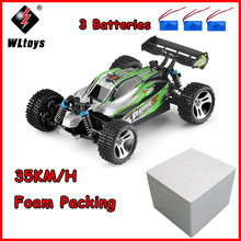 цены RC Car WLtoys A959-A 2.4G 1/18 Scale Remote Control Off-road RC Racing Car High Speed Stunt SUV Toy Boys Gift 35km/h VS A959-B