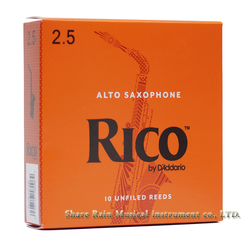 USA  RICO Alto Saxphone Reed Orange Box  Fo 10 Reeds  Eb Alto Sax  Classic
