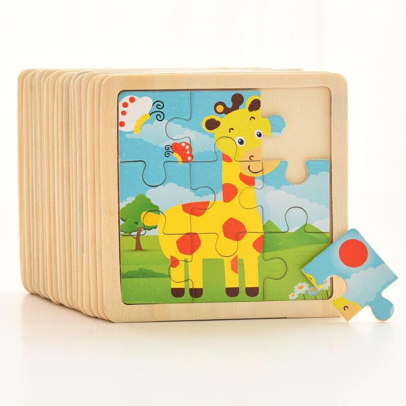 1PCS 3D Paper Jigsaw Puzzles for Children Kids Toys Baby Educational Puzles