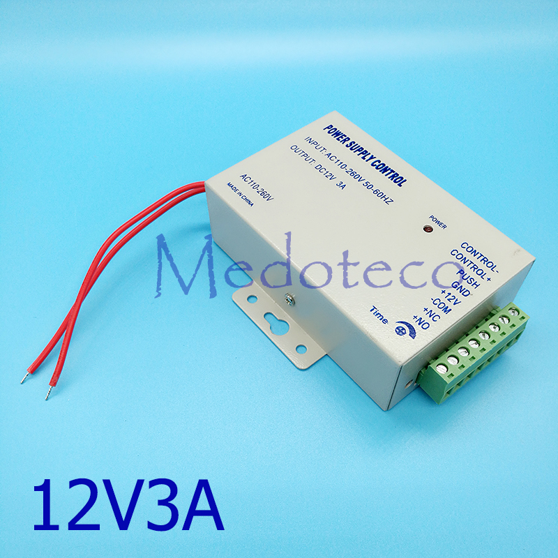 Special Cost DC 12V3A New Door Access Control System Switch Power Supply 12V/DC  110~260V/AC Access Control Power Supply