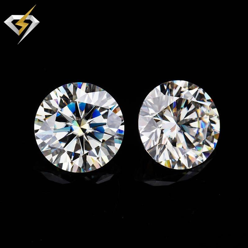 VVS1 прозрачный цвет 8 мм круглый блестящий Муассанит в огранке Сыпучие камни для изготовления ювелирных изделий