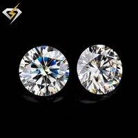 VVS1 ясно де цвета 8 мм круглой бриллиантовой огранки moissanites свободные камни для изготовления ювелирных изделий