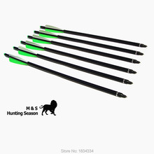 archery aluminum arrow for crossbow bolt 20 nock insert removable broadheads hunting 12 pcs/lot high qulity