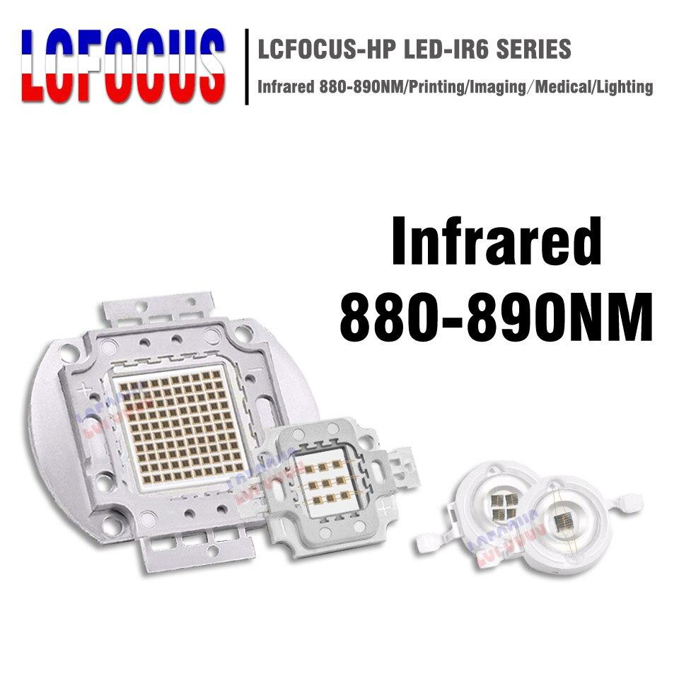 High Power LED Chip Infrared IR 880nm 890nm 3W 5W 10W 20W 30W 50W 100W Emitter Lamp Light Bead COB 3 5 10 20 30 50 100 W Watt
