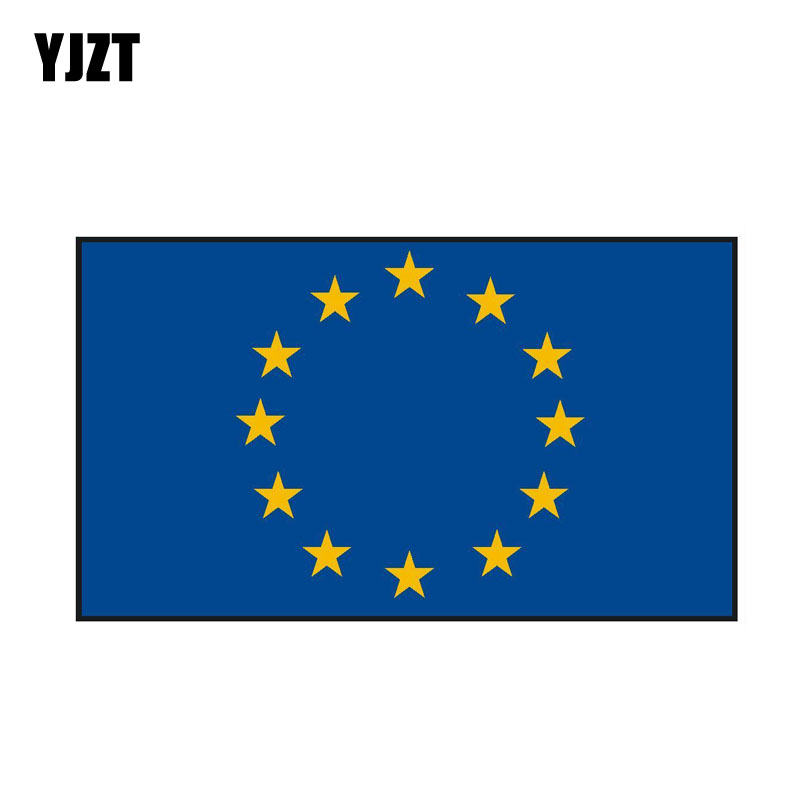 YJZT 16.4CM*9.4CM Creative EUROPEAN UNION Funny Decal Car Sticker Styling 6-0519