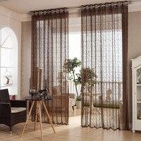 European Style Jacquard Design Home Decoration Modern Curtain Tulle Fabrics Organza Sheer Panel Window