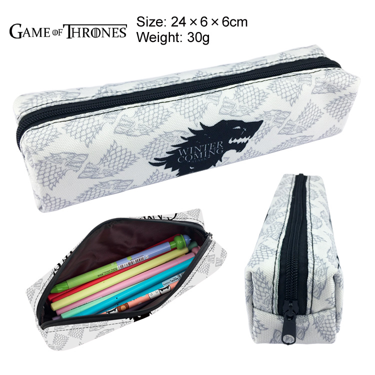 New Game of Thrones Canvas Pencil Bag Printing Pouch Zipper Case Student Gift Wallet Bag Gift student navy canvas pen pencil case high quality stripes coin purse fashion zipper pouch bag new estojo de lapis y