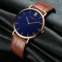 Корейская мода повседневное атмосферные часы Мужской студент Простой сталь ремень тренд женские часы кварцевые часы парные большой и lux