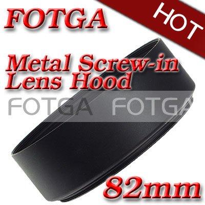 Оптовая Fotga Винтами 82 мм Стандартный металл Бленда Объектива для Canon Nikon 82 мм Объектив