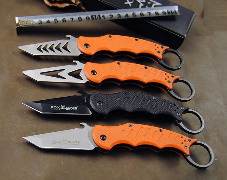 FOX karambit claw Folding font b knife b font FOX DART 5CR13 Blade 60HRC font b