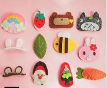 FinishedCute animal fruit fabric felt cloth toys handmade without accessories cute craft for brooch keychain phone plug(China)