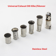 лучшая цена 51mm 60mm Universal Motorcycle Exhaust Muffler Baffle DB Killer Silencer Removable DB Killer Baffle Can