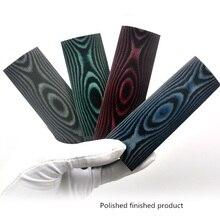 Katlanır cep bıçak sapı renkli kağıt Micarta bıçak sapı ölçekli boşlukları sap kapak kılıf malzemesi