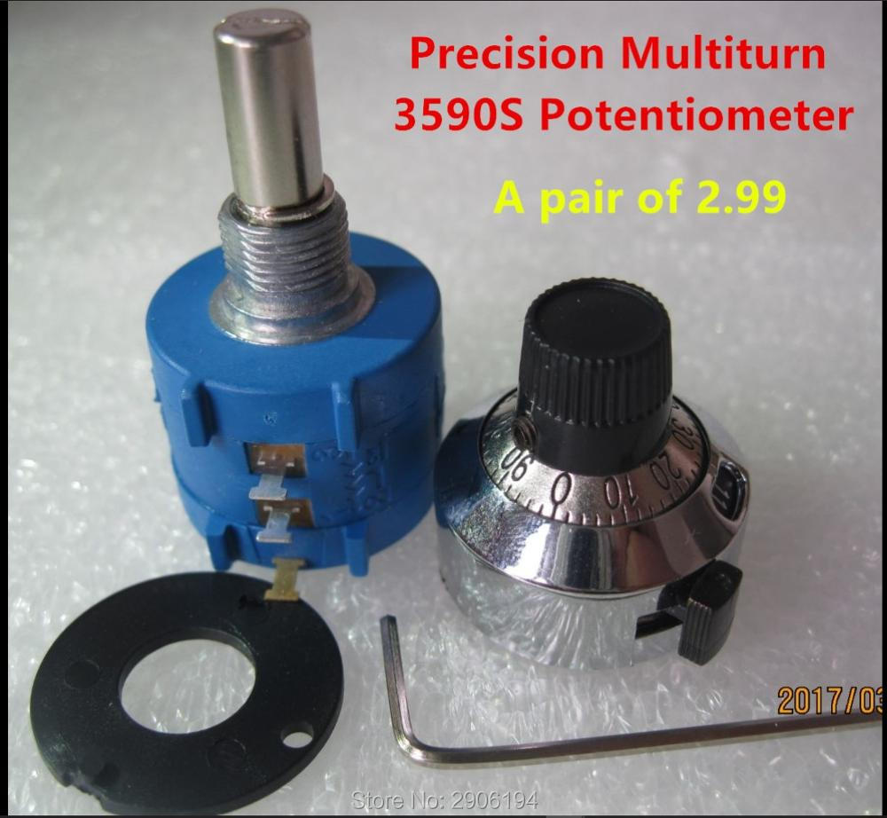 3590S-2-102L 3590S 1K ohm Precision Multiturn Potentiometer 10 Ring Adjustable Resistor