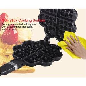 Image 3 - TINTON ömürlü DIY kalp şekli yapışmaz Metal Waffle makinesi Waffle kalıp mutfak kek pişirme kabı
