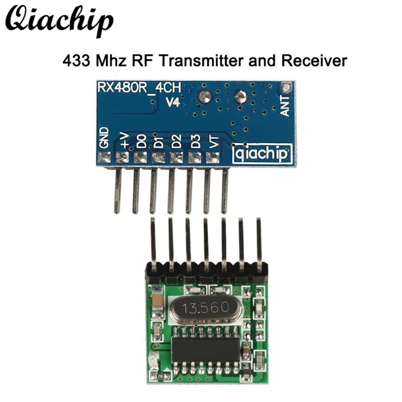 QIACHIP 433mhz RF Receiver Module Small Low Power RF Relay Transmitter 433 MHz Remote Control Switch For Smart Home Light Diy
