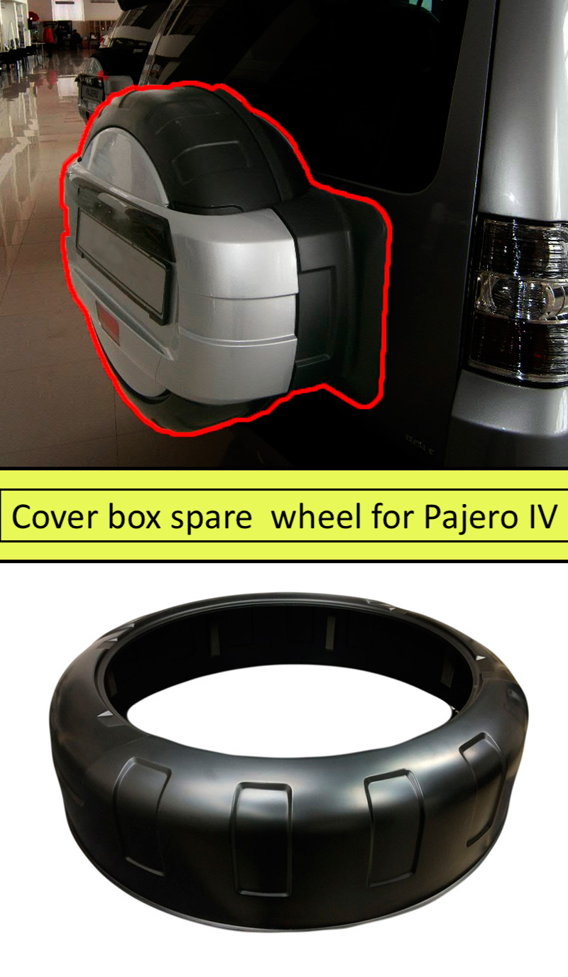 Cover box spare wheel for Mitsubishi Pajero IV 2006-2015 ABS plastic protection design sports styles car styling car accessories штатная магнитола carmedia ol 7631 dvd mitsubishi pajero iv 2006 2015 v97 v93