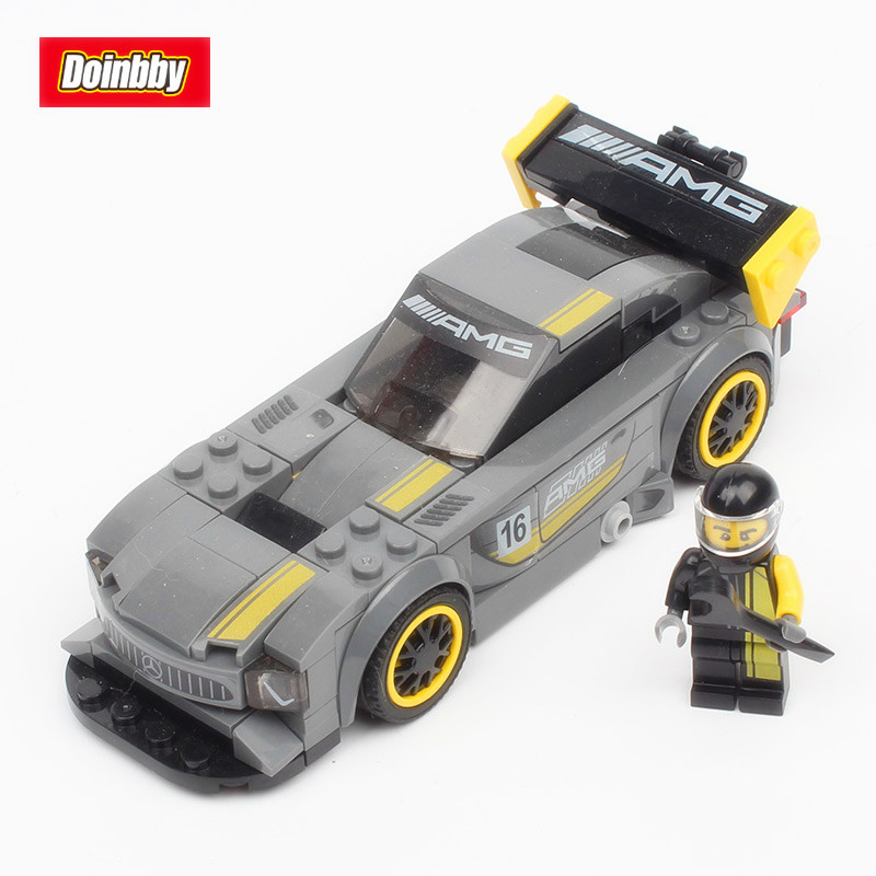 Lepin 28003 Super Racer The AMG GT3 Racing Car Set 2018 New Arrival 211Pcs Building Blocks Bricks Toys 75877 For Children