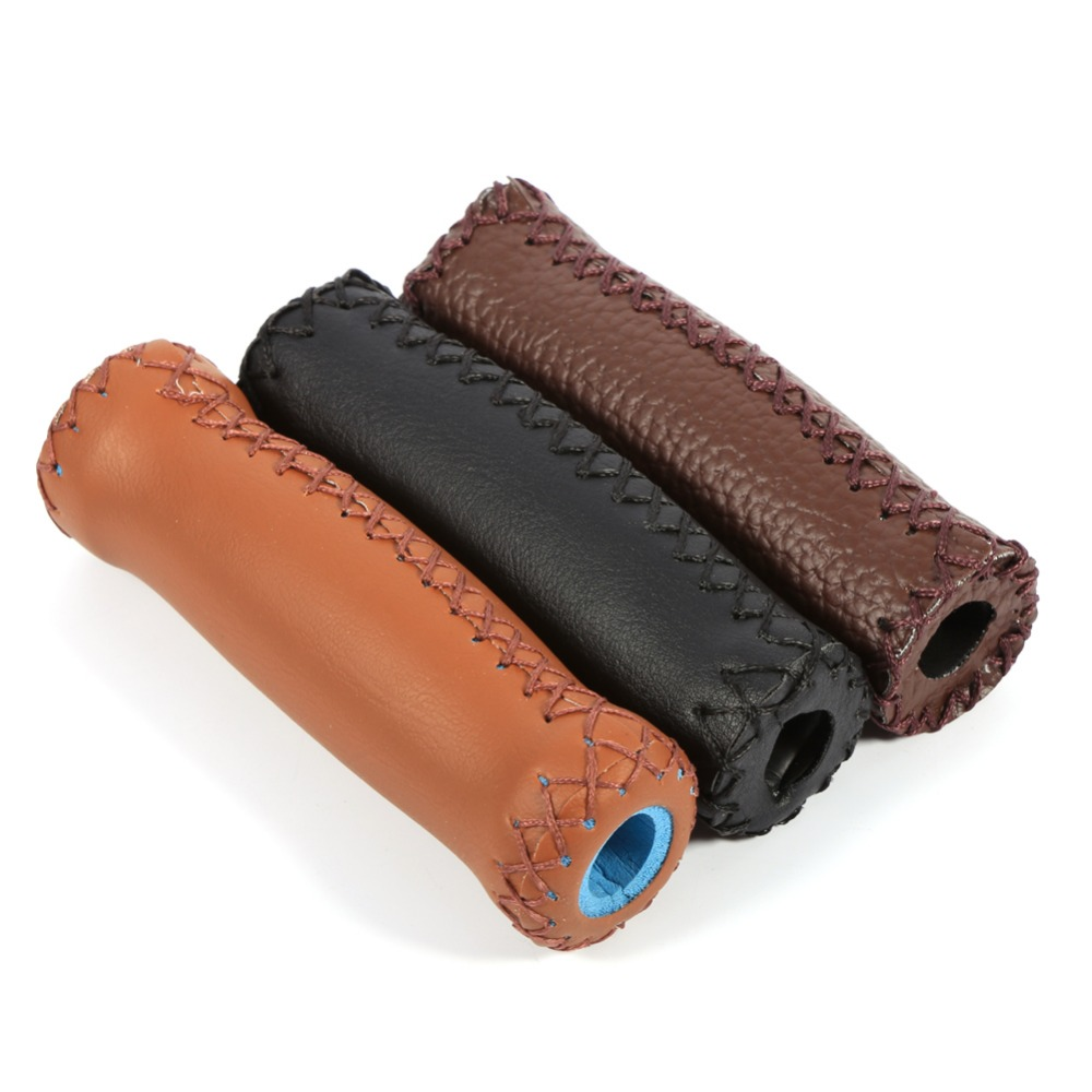 1Pair Anti-slip Cycling Grip for Mountain Bike Scooter Artificial Leather Bicycle Handlebar Girps Antiskid Handlebar Cover
