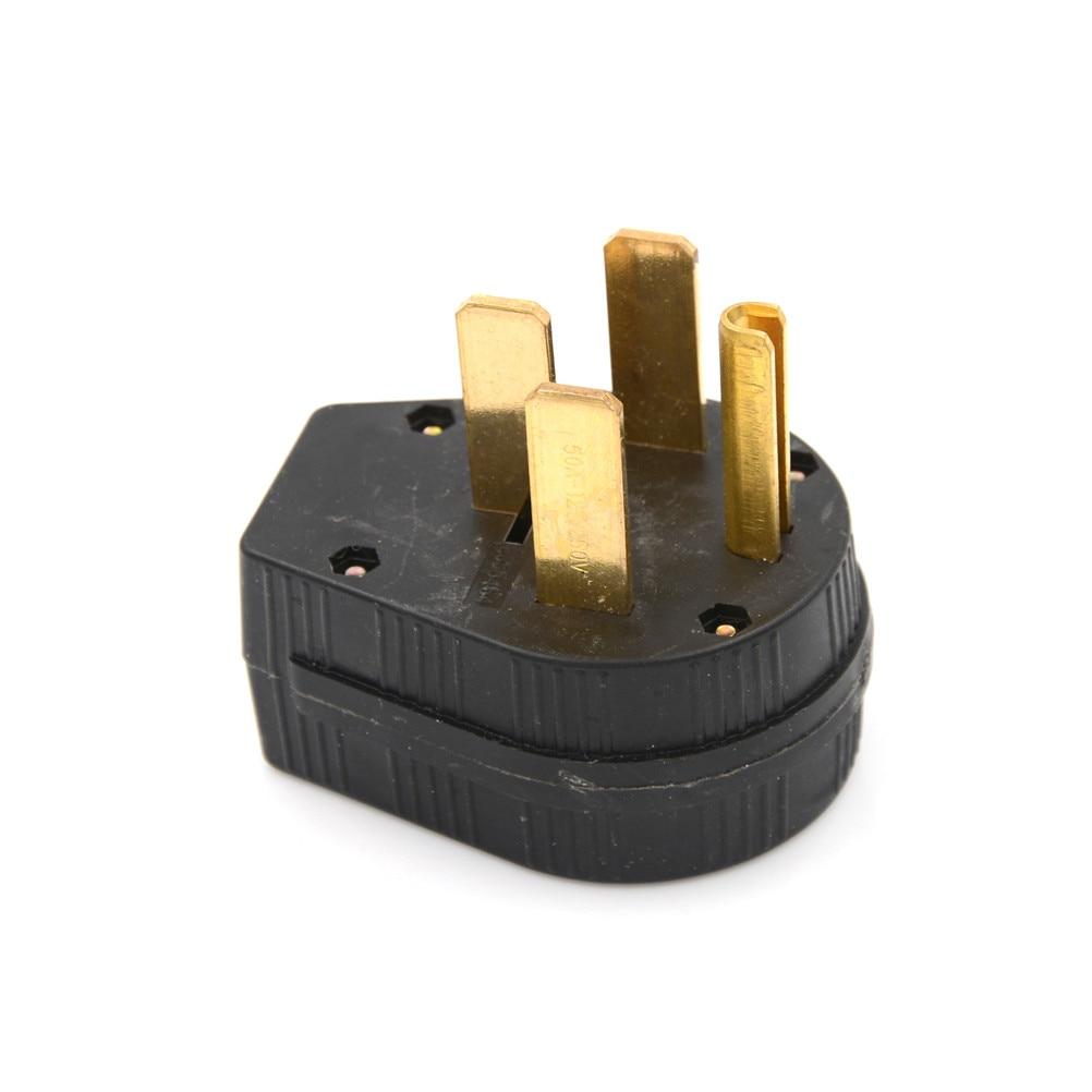 1 unids 50A 125 V hoja recta ángulo cuatro Pasadores ee.uu. enchufe NEMA 14-50 p ee.uu. cuatro agujeros enchufe para secadora, RV, generador