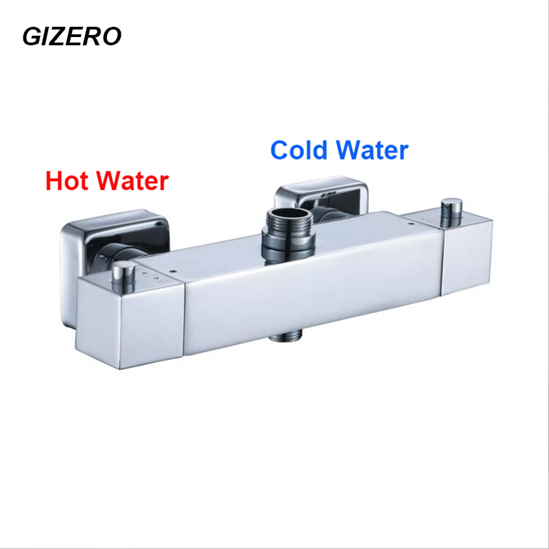 New Arrival Chrome Brass Finish Water Temperature Control Bathroom Thermostatic Shower Set Wall Mounted Thermostat Faucet ZR964