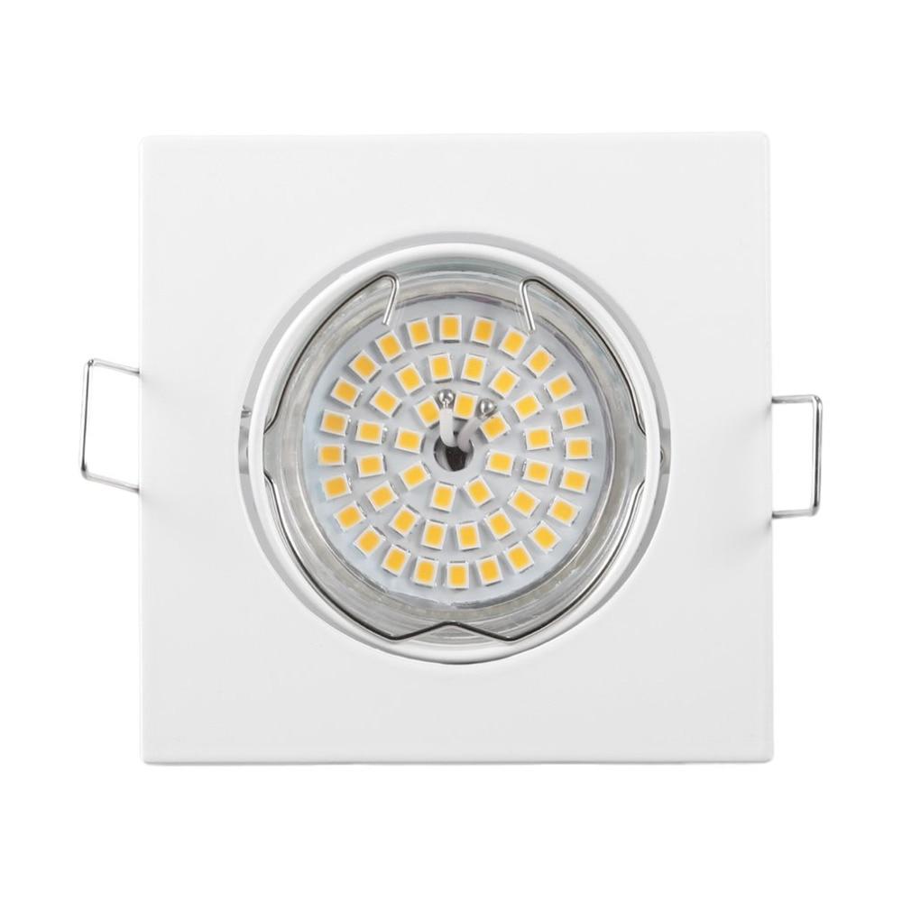 GU10 LED Light Spotlight Kit 48LED 220V 12W 2358SMD LED Bulbs Warm White Square Downlight Living Room Ceiling LED Lamps