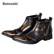 Batzuzhi модная дизайнерская обувь с высоким берцем для мужчин;