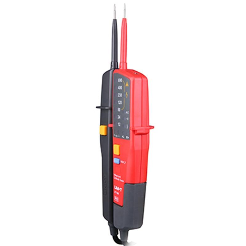 UNI-T voltmeter digital UT18A Voltmeter Voltage Tester Auto Range 100-690V led AC DC voltage tester volt pen style Voltage Meter цена