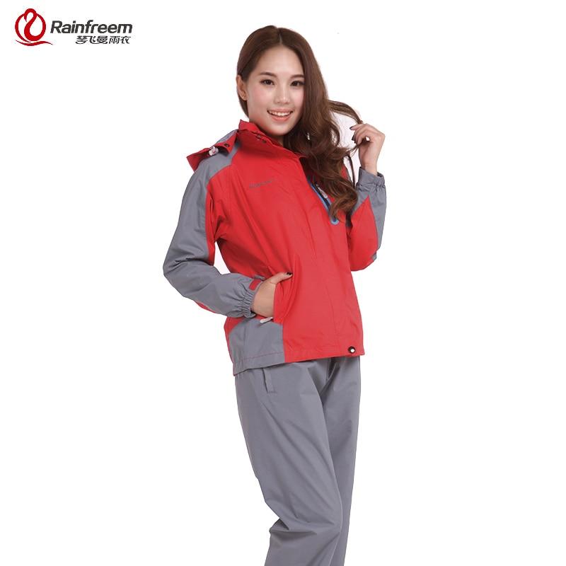 Rainfreem Impermeable Raincoat Women/Men Rain Jacket Outdoor Waterproof Camping Jacket Rainproof Hiking Coat Rain Gear Equipment