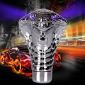 Universal Cool Snake Handle Gear Shift Knob Lever Stick Lighted Gears Rally Racing Shifter For Manual Transmission Blue Eyes