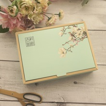 22.5*15*5cm 5pcs Elegant Flwoer Paper Box As Macaron Chocolate Cookie New Year Holiday Birthday Party Gifts Packaging