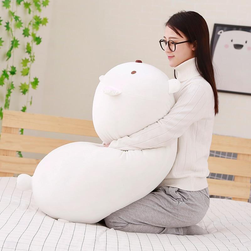 60cm kawai san x sumikko gurashi big super squishy plush polar bear corner bio pillow