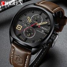 CURREN 8324 Relogio Masculino Sport Watch Men Top Brand Luxury Quartz Mens Chronograph Date Military Waterproof Wrist Watches