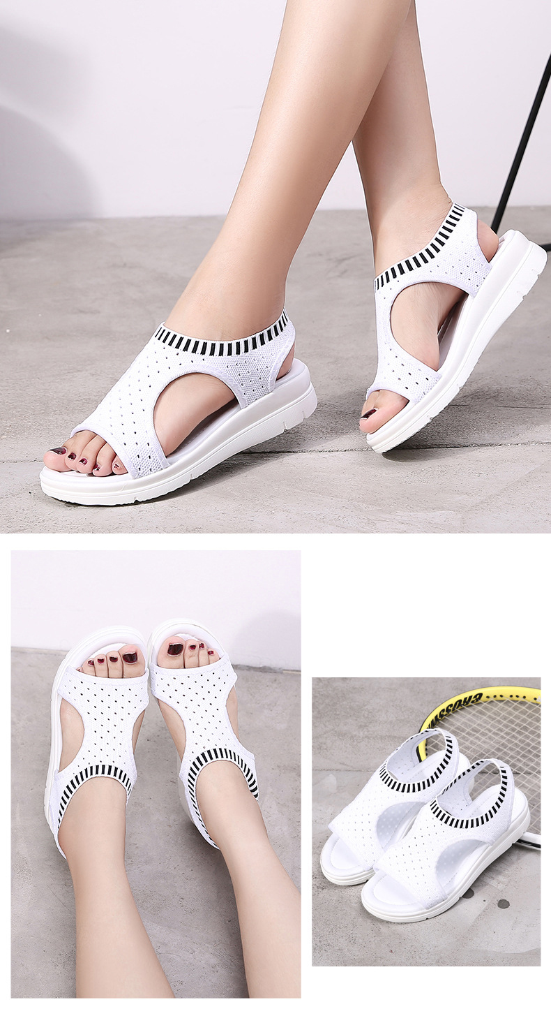 HTB1xRKexWSWBuNjSsrbq6y0mVXaz MLANXEUE Fashion Women Sandals For 2019 Breathable Comfort Shopping Ladies Walking Shoes Summer Platform Black Sandal Shoes