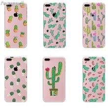 Arsmundi font b 2018 b font Summer Cactus Banana Leaves Green Plant for font b iPhone