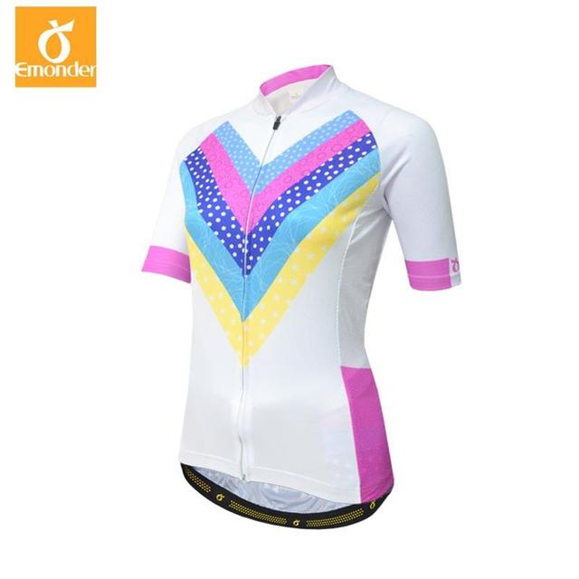 0a34fe677 EMONDER New Arrival Women s Short Sleeve Cycling Jersey Tops 100%Polyester Quick  dry Sports Bike Clothing Ropa Ciclismo XXS-3XL