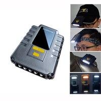 5 LED Brilhante Recarregável USB Cap Hat LED Head Lamp, 30 CM Infravermelho Acenando Vabrition Indução Sensor de Farol + Alarme Da Mordida De Peixe