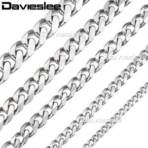 Davieslee Chain Gold Silver Necklace for Men Jewelry