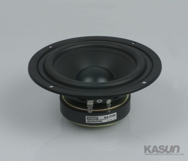 2PCS Kasun QA-5100 5inch Mirange Speaker Driver Unit PP Cone Midwoofer Power Handling 90W D147mm