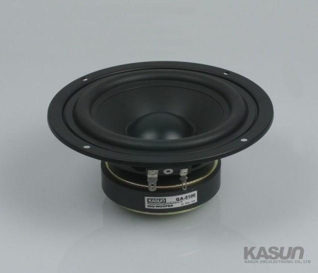 2PCS Kasun QA-5100 5inch Mirange Speaker Driver Unit PP Cone Midwoofer Power Handling 90W D147mm