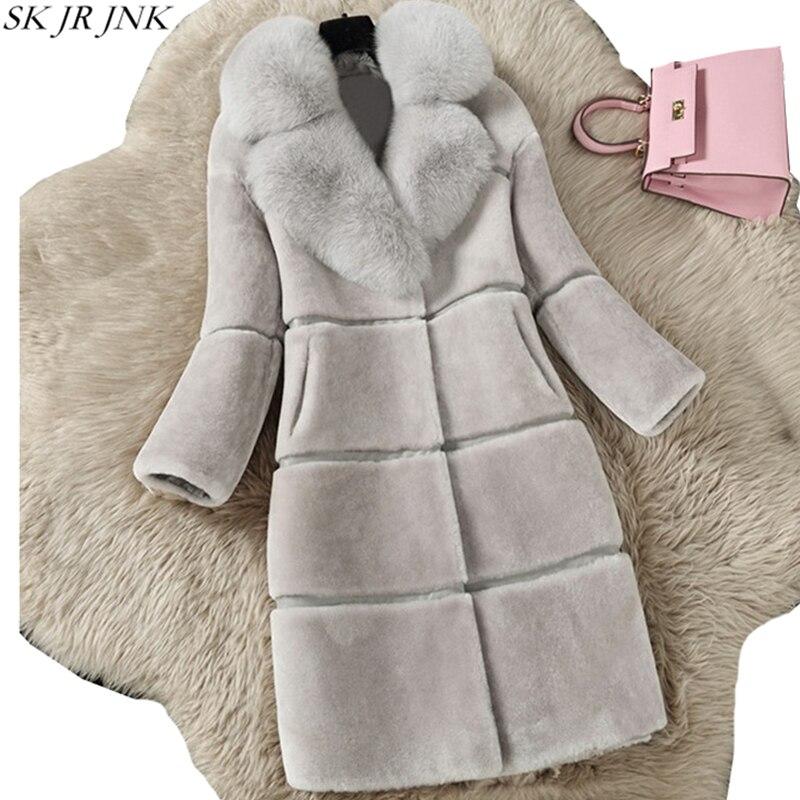 2017 Winter New Women Fur Coat Ladies Long Sleeve Warm Jackets Fashion Faux Mink Fur Coat
