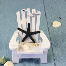 Newly Mini Wood Beach Chair Nautical Ornaments Mediterranean-style for Home Decoration(China)