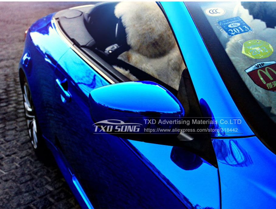 Image 5 - High stretchable Waterproof UV Protected dark blue Chrome Mirror Vinyl Wrap Sheet Roll Film Car Sticker Decal Sheet-in Car Stickers from Automobiles & Motorcycles