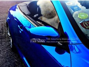 Image 5 - High stretchable Waterproof UV Protected dark blue Chrome Mirror Vinyl Wrap Sheet Roll Film Car Sticker Decal Sheet