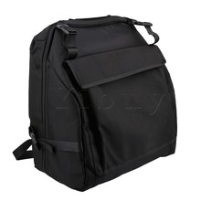 Yibuy 43 × 45センチ1200dオックスフォード布黒肥厚アコーディオンケースバッグ用60アコーディオン低音